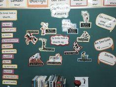 Caitheamh aimsire notice board Primary Teaching, Help Teaching, Primary School, 6 Class, Halloween Arts And Crafts, Irish Language, School Classroom, Back To School, School Life