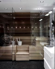 Minimal Bathroom, Modern Bathroom, Boho Bathroom, Small Bathroom, Sauna Heater, Sauna Design, Sauna Room, Dream Bathrooms, Marble Bathrooms