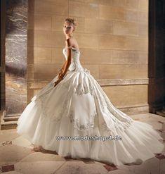 Traumhaftes Prinzessinen Hochzeitskleid