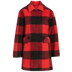 Women's Pendleton Paul Bunyan Plaid Wool Blend Barn Coat (4.742.500 IDR) ❤ liked on Polyvore featuring outerwear, coats, tartan coat, plaid coat, red tartan coat, buffalo plaid coat and red plaid coat