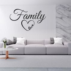 Family Love Wall Sticker | Wall Sticker Express Family Wall, Family Love, Vinyl Wall Decals, Wall Stickers, Love Wall, House Ideas, Lounge, Wall Art, Living Room