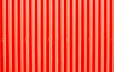 Red Corrugated Metal Photograph  - Red Corrugated Metal Fine Art Print