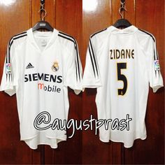 a19d459c9 Real Madrid 2004-2005 Home  5 Zidane Real Madrid Football