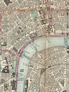 Pocket map of London, ca. 1890