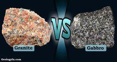 Gabbro is a dark, medium- to coarse-grained intrusive igneous rock composed of calcium plagioclase, pyroxene
