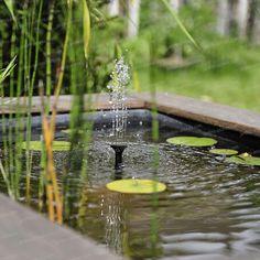 Petite fontaine solaire. Créez votre espace aquatique dans un petit bassin, tonneau ou mare avec notre fontaine à énergie solaire. Composée d'un...