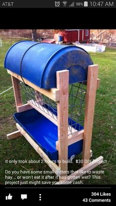 Diy Hay Feeder Best Of Hay Feeder Would Make A Larger Roof to Prevent Blowing Rain and Of Diy Hay Feeder Luxury Viewing A Thread Sto Goat Hay Feeder Diy Hay Feeder, Goat Hay Feeder, The Farm, Mini Farm, Horse Feeder, Hay Feeder For Horses, Goat Playground, Goat Shelter, Deer Feeders