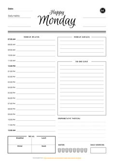 Most current Totally Free daily planner printable Tips Are you currently ready to begin with with printable planner inserts? If you're new to printables Daily Work Planner, To Do Planner, Daily Agenda, Daily Planner Pages, Study Planner, Weekly Planner, Daily Routine Planner, Assignment Planner, 2015 Planner
