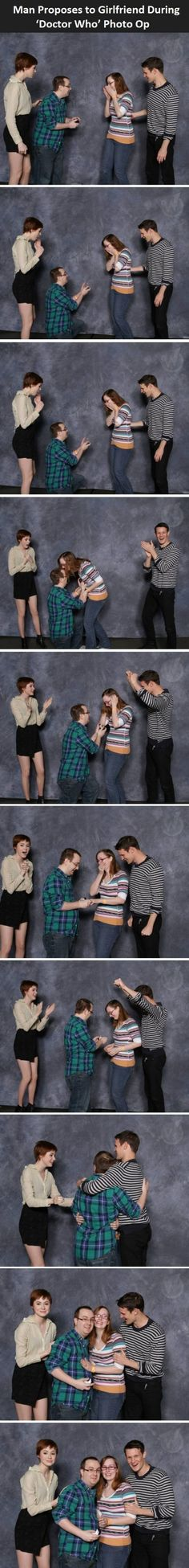 Doctor Who Proposal omg i can't even<-this is why nerds rule the world<< This is the best thing at the internet.