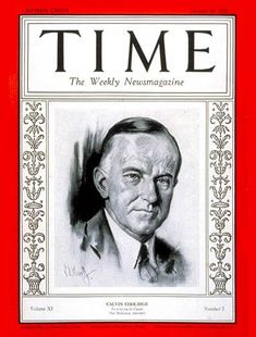 TIME Magazine Cover: Calvin Coolidge -- Jan. 16, 1928