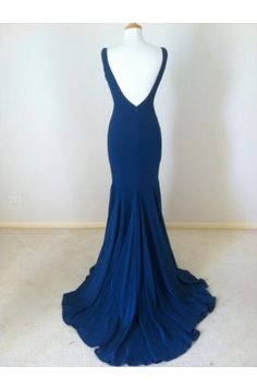 Elegant Long V-neck Prom Dress Bridesmaid Formal Dresses - TheCelebrityDresses