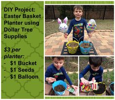DIY Easter Basket Planter for $3 #DIY #Easter ~ Trendy Mom Reviews