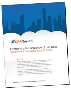 Salesforce Data Pollution - Overcoming challenge of Bad Data