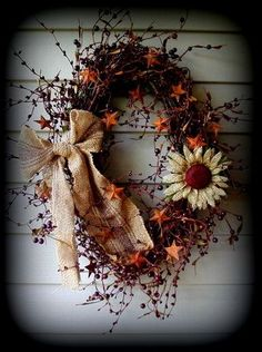 Pip Berry Wreaths - Primitive Home Decor and More..... by sherrie