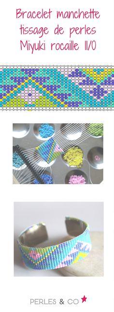Retrouvez le tutoriel de Caticoud pour réaliser un bracelet manchette réalisé avec un métier à tisser avec des perles rocaille Miyuli 11/0 sur Perles & Co https://www.perlesandco.com/Bracelet_manchette_Tissage_de_Perles_Rocailles-s-2497-4.html