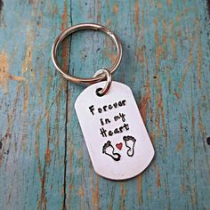 Check out this item in my Etsy shop https://www.etsy.com/listing/503494328/forever-in-my-heart-memorial-keychain-in