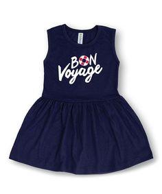 Another great find on #zulily! Navy 'Bon Voyage' Dress - Toddler & Girls #zulilyfinds