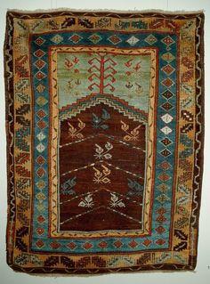 Central Anatol. Karaman prayer rug ca 1825 - Turkey