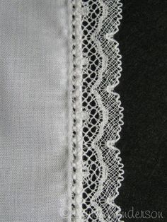 Applying Lace, Roll, Whip and then Pin Stitch In Two Easy Steps Sewing Tutorial