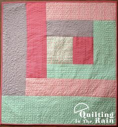 Quilt as you Go Log Cabin Tutorial | Quilting in the Rain