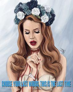 Lana Del Rey #LDR #art #Born_to_Die