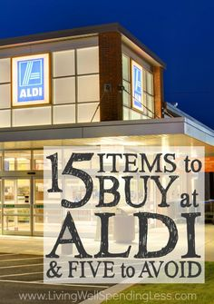 Did you know shopping at ALDI can cut your grocery bill in half.without having to clip a single coupon? Get the full scoop on exactly which items are a STEAL at this budget-friendly store (as well as which items you should probably avoid.) via lwsl Save Money On Groceries, Ways To Save Money, Money Saving Tips, Money Savers, Money Tips, Saving Ideas, Groceries Budget, Budget Meals, Shopping Coupons