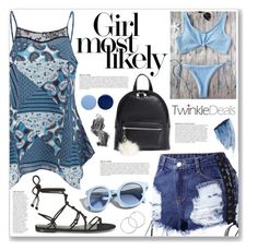 """everything is blue (twinkledeals 130)"" by myduza-and-koteczka ❤ liked on Polyvore featuring BP., Anja, Temperley London, Pinko, Sisley, Burberry and Illamasqua"