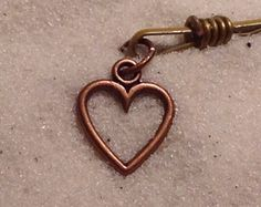 Cascading Copper Metal Heart Blonde Bobby Pin Dangling Heart Pin CrazyVintageBoutique Copper Wire Women Teens Beach Hair Bobby Pins Spring by CrazyVintageBoutique on Etsy