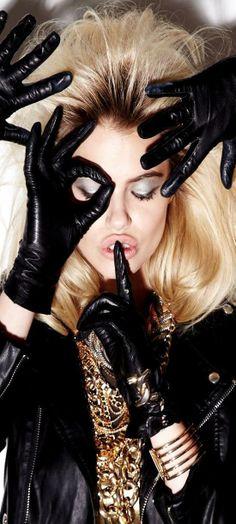 Hailey Clauson Black Gloves and gold | LBV♥✤ | KeepSmiling | BeStayElegant