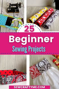 Take a look at these 25 easy sewing projects that you can make in 30 minutes or less. These sewing projects are great for beginners. Everyone of these 25 projects come with a free tutorial. If you are looking for sewing patterns that are quick and easy to construct, you will love these. If you need a quick DIY gift, you should look at the great sewing projects in this roundup. Have fun making some of these quick and easy projects. #sewbabyprojects #easythingstosew #sewideas #whattosew…