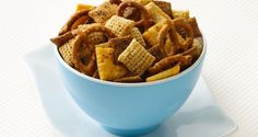 Chex™ Party Mix Contest Winning Recipe 2009! Inspired by her husband and son, who love Buffalo hot wings, the winning cook perfected the combination of Chex™ cereals, spice, celery seed and ranch dressing.