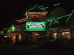 In my top 5 favorite bars in the world, for sure—McGuire's Irish Pub in Destin, FL.