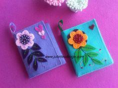 Keçe cüzdan - Felt Purse www.juliettesdesign.com