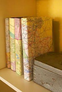 encapando livros ou cadernos mapas!
