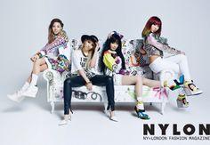 Group 2NE1 as the cover model for a magazine. #2ne1
