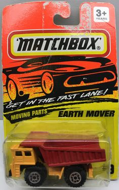 """(TAS003071) - 1994 Matchbox """"Get in the Fast Lane"""" Car - Earth Mover"""