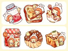 Kawaii Chibi, Cute Chibi, Kawaii Art, Anime Chibi, Anime Art, Cute Animal Drawings, Kawaii Drawings, Cute Drawings, Cute Food Art