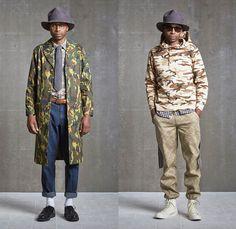 camo print, cargo pants, fedora hats