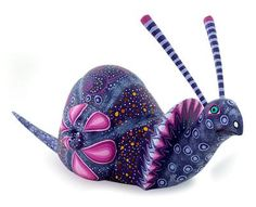 Alebrije sculpture, 'Oaxaca Snail' by NOVICA