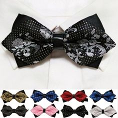 20 style summer men's neckwear neck self gold bow tie silver black silk fashion casual male pink bowtie wedding lote