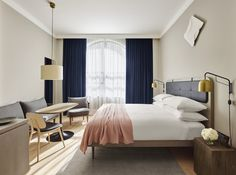By combining New York's classic feel with Scandinavian design traditions, SPACE Copenhagen created contemporary interiors for the new 11 Howard Hotel.
