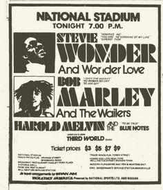 Bob Marley & Stevie Wonder : The Wonder Dream Concert (October 75)