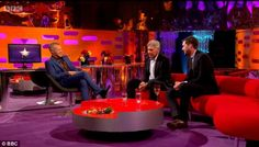 Graham Norton welcomes Harrison Ford and Jack Whitehall onto his Friday night talk show  Image credit - www.dailymail.co.uk