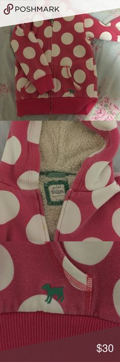 Mini Boden Hoodie Sherpa lined hoodie. Good condition. Size 7-8 Mini Boden Jackets & Coats