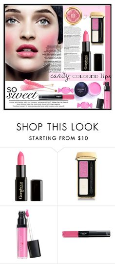 """So Sweet: Candy-Colored Lips"" by louise-frierson ❤ liked on Polyvore featuring beauty, Too Faced Cosmetics, Gorgeous Cosmetics, Urban Decay, Guerlain, Revlon, L'Oréal Paris and Kate Spade"