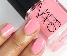 simple pink mani