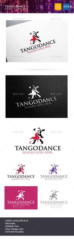 Tango Dance Logo Template Vector EPS, AI. Download here: http://graphicriver.net/item/tango-dance/10988274?ref=ksioks