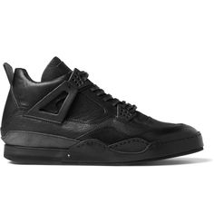 Leather Sneakers, Shoes Sneakers, Black Leather, High Tops, Flats, Sneakers