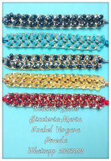 Diseños Sami Bisuteria:   www.bisuteriasam.blogspot.com: Pulsera en cadena y cristal rondel