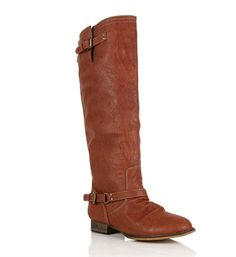 Rust Knee High Riding Boots